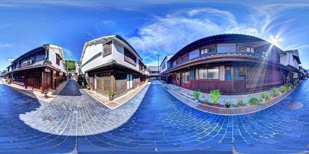 竹原 街並み 360度パノラマ写真(2)