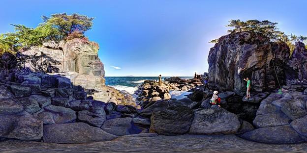 「大淀小淀」 城ヶ崎海岸の柱状節理 360度パノラマ写真(1)