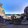 Photos: 「大淀小淀」 城ヶ崎海岸の柱状節理 360度パノラマ写真(1)