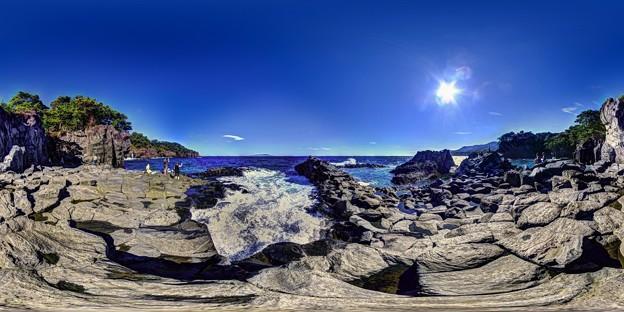 「大淀小淀」 城ヶ崎海岸の柱状節理 360度パノラマ写真(2)
