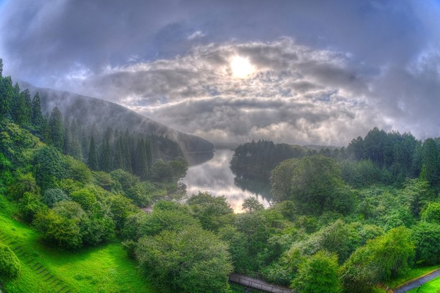 Photos: 湖畔の朝 田貫湖 (フィシュアイ)