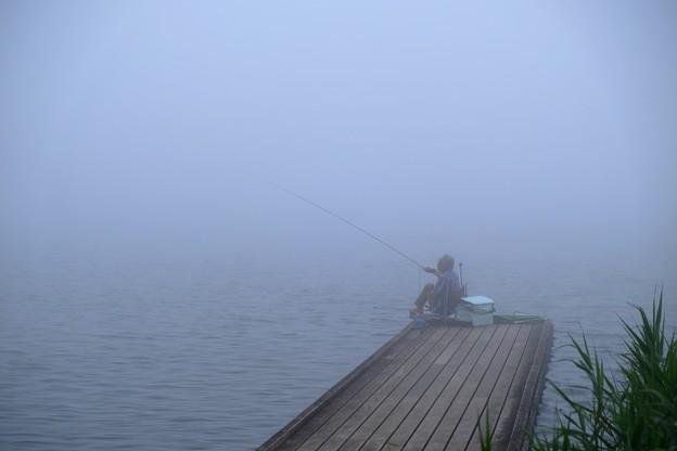 釣り人 田貫湖畔