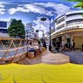 "Photos: 静岡市葵区呉服町 ""ハニカムスクエア""(社会実験) 360度パノラマ写真(1)"