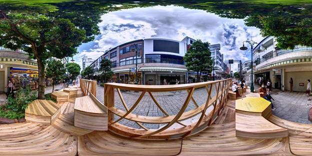 """静岡市葵区呉服町 """"ハニカムスクエア""""(社会実験) 360度パノラマ写真(4)"""