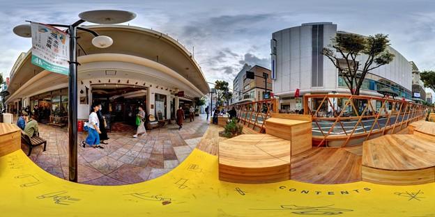 """静岡市葵区七間町 """"ハニカムスクエア""""(社会実験) 360度パノラマ写真(1)"""