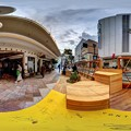 """Photos: 静岡市葵区七間町 """"ハニカムスクエア""""(社会実験) 360度パノラマ写真(1)"""