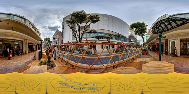 """Photos: 静岡市葵区七間町 """"ハニカムスクエア""""(社会実験) 360度パノラマ写真(2)"""