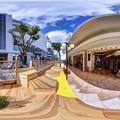 """Photos: 静岡市葵区七間町 """"ハニカムスクエア""""(社会実験) 360度パノラマ写真(4)"""