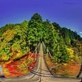 Photos: 井川湖 夢の吊橋 紅葉 360度パノラマ写真(1)