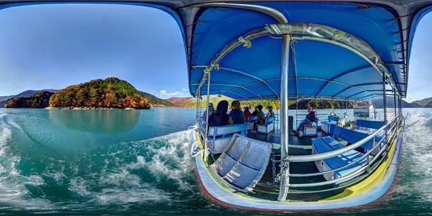 井川湖渡船 360度パノラマ写真