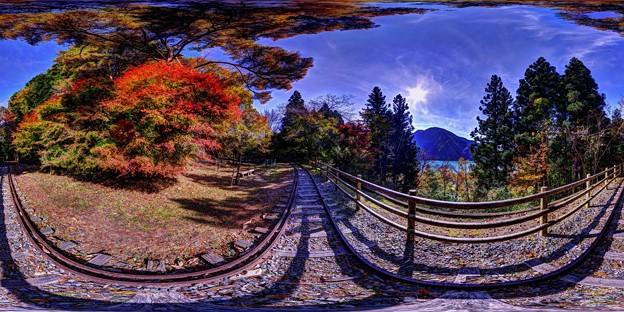 Photos: 紅葉、井川湖畔遊歩道 360度パノラマ写真(2)