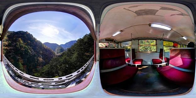 大井川鉄道井川線 関の沢橋梁付近 360度パノラマ写真