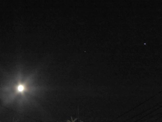 月と土星と木星?