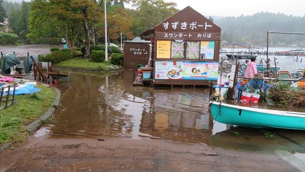 芦ノ湖のボート乗り場