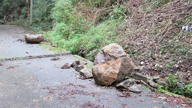 大きな岩崩れ