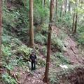 Photos: 名手~中沢山登山道 崩落箇所ドローン空撮