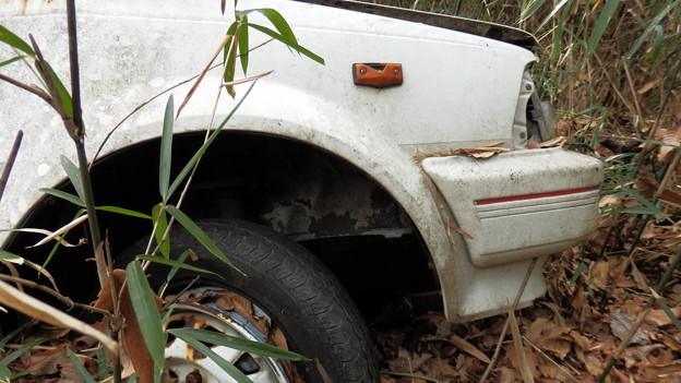 町田市山中の放置車両