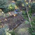 山の神沢1号堰堤付近空撮写真