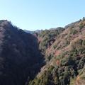鐘ヶ嶽の山なみ
