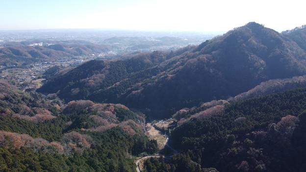 広沢寺温泉方向の空撮写真