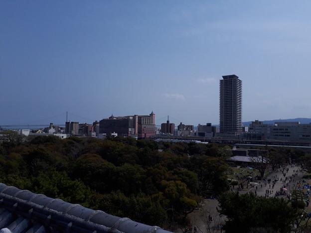 明石城から見た街