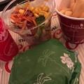 Photos: コッドフィッシュバーガーセットとカップサラダ。