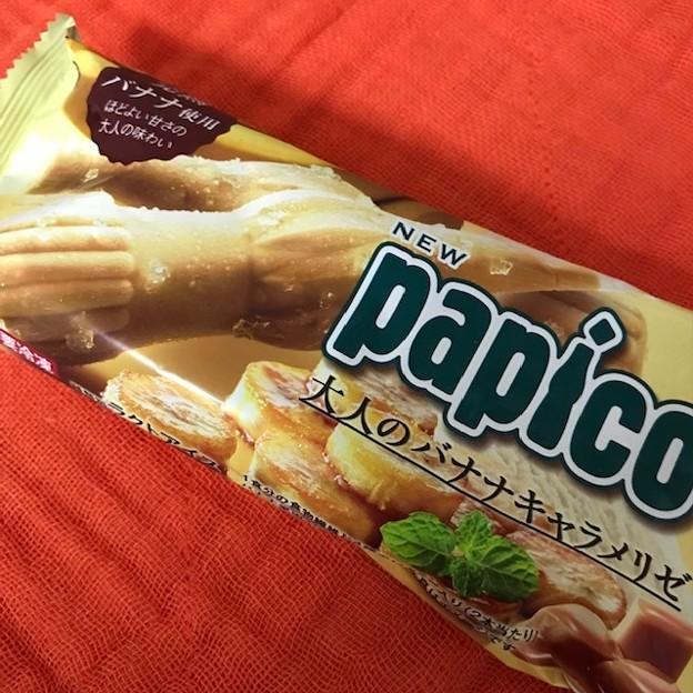 新しい味のパピコ見つけたので。 #大人のバナナキャラメリゼ