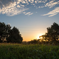 Photos: 古墳公園の夜明け