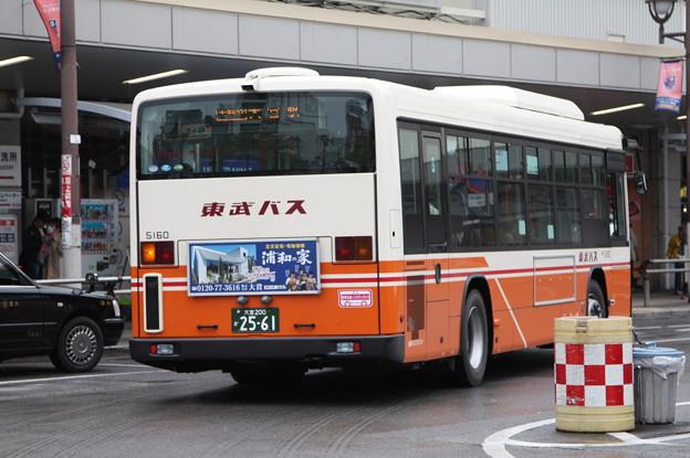 東武バス 新型ブルーリボン 5160号車 後部