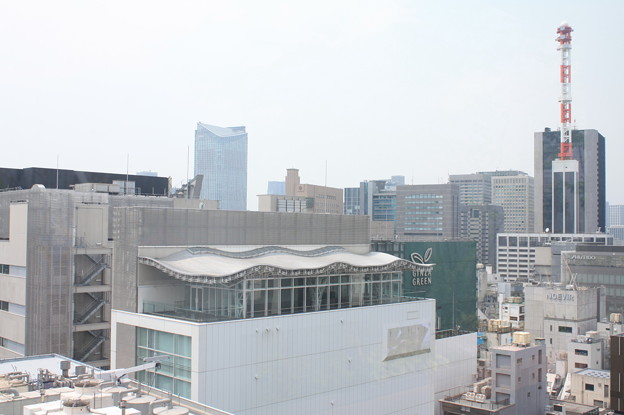 GINZA SIXの屋上階から見た銀座の街並み 18
