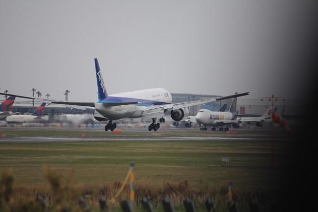 全日空 ANA ボーイング777-300ER JA735A 着陸 (1)