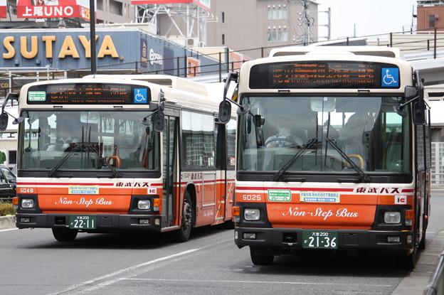 東武バス 5048号車・5025号車