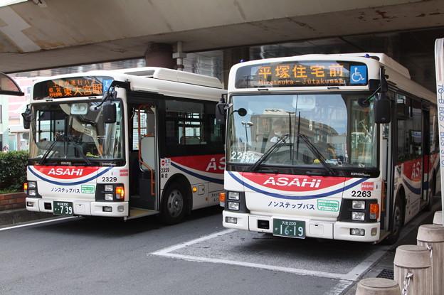 朝日バス 2329号車・2263号車