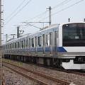 常磐線 E531系K404編成 「気になるイバラキひよっこ」ラッピング 386M 普通 上野 行