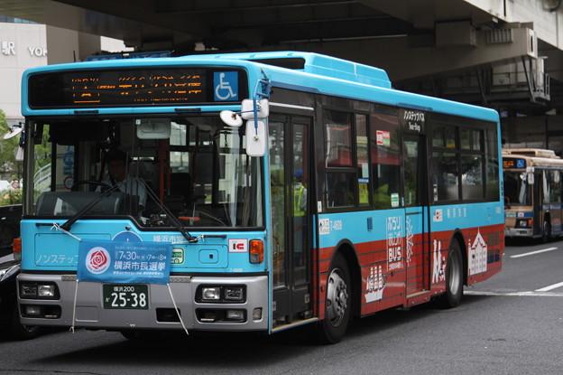 横浜市営バス 7-4609号車 「ぶらり赤レンガBUS」ラッピング