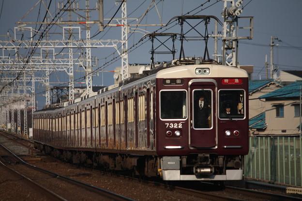 阪急京都線 7300系7322F 特急 阪急梅田 行