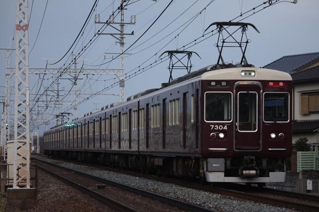 阪急京都線 7300系7304F 特急 阪急梅田 行