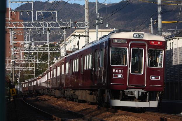 阪急神戸線 5000系5001F 特急 阪急梅田 行