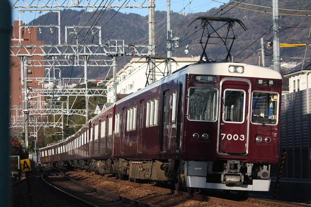Photos: 阪急神戸線 7000系7003F 普通 阪急梅田 行