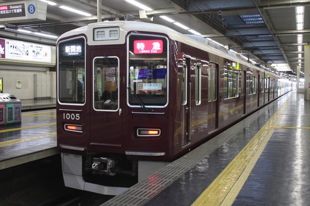 阪急神戸線 1000系1005F 特急 新開地 行