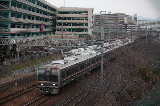 JR京都線 207系1000番台S23編成 普通 新三田 行