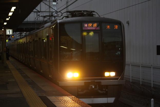 片町線 321系D8編成 快速 木津 行