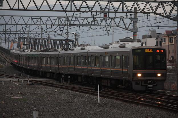 片町線 207系 快速 塚口 行