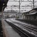 Photos: 積雪の常磐線水戸駅構内