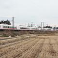 Photos: 冬の田園風景を行くE657系 (1)