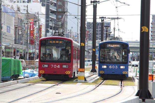阪堺電気軌道 モ701形704・モ601形603