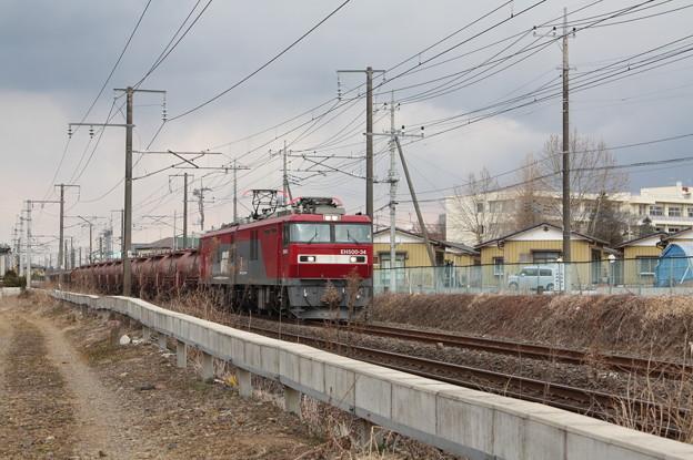 安中貨物 5094レ EH500‐34+タキ+トキ (4)