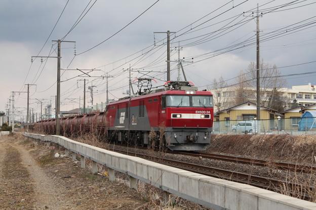 安中貨物 5094レ EH500‐34+タキ+トキ (6)