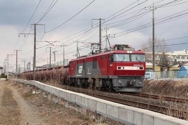 安中貨物 5094レ EH500‐34+タキ+トキ (7)
