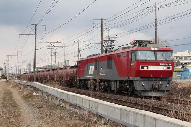 安中貨物 5094レ EH500‐34+タキ+トキ (8)